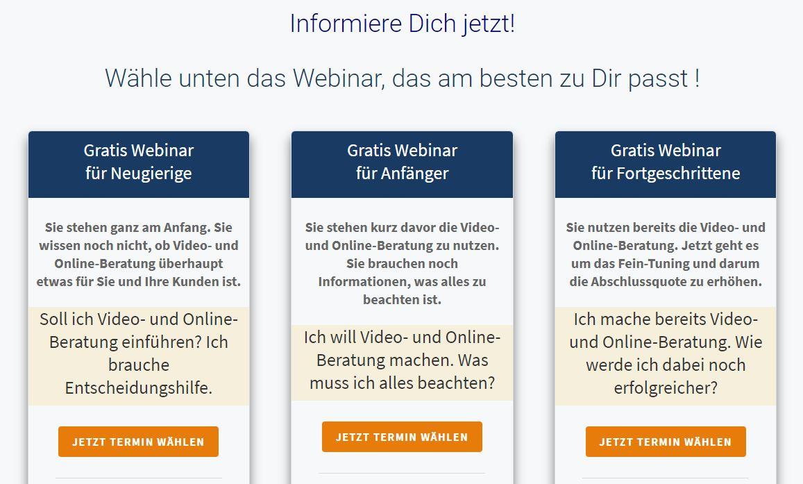 Video und Online Beratung